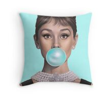 Hot Blue Audrey Throw Pillow