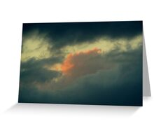 ANGRY STORM CLOUDS Greeting Card