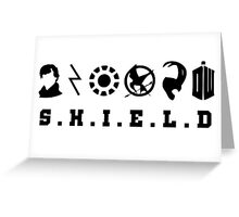 Sherlock, Harry, Iron Man, Everdeen, Loki, Doctor Who Greeting Card