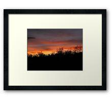 Super Bowl Sunset Framed Print