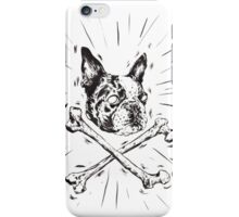 Pirate Boston Terrier Flag iPhone Case/Skin