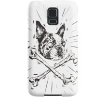 Pirate Boston Terrier Flag Samsung Galaxy Case/Skin