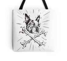 Pirate Boston Terrier Flag Tote Bag