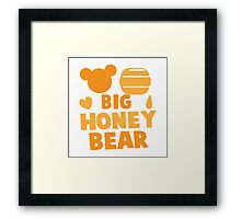 Big Honey bear with honey pot and bears face (good for a new daddy) Framed Print