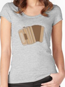 An awesome musical instrument the acordian accordion Women's Fitted Scoop T-Shirt