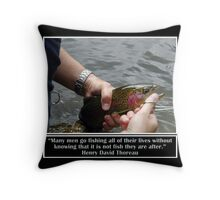 Fishing All Their Lives Throw Pillow