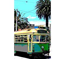 St.Kilda Beach Tram Photographic Print