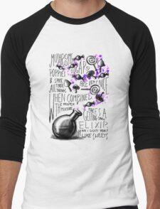 Mushrooms, popies, sugar and spice... Men's Baseball ¾ T-Shirt