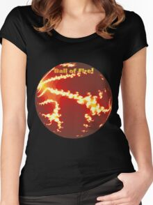 Ball of Fire Tee Women's Fitted Scoop T-Shirt