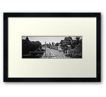 The Rail Always Turns Framed Print