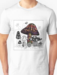 the Mushroom in Technicolor  Unisex T-Shirt