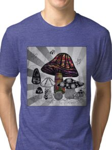 Technicolor Mushroom Rays  Tri-blend T-Shirt