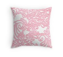 Pink Swirls Throw Pillow