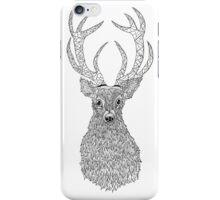 STAGS HEAD: Zentangle Line Art Style  iPhone Case/Skin