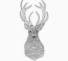 STAGS HEAD: Zentangle Line Art Style  T-Shirt