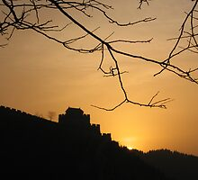 sunrise on the great wall of China  by rani