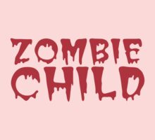 Zombie child in cool dripping font Kids Tee