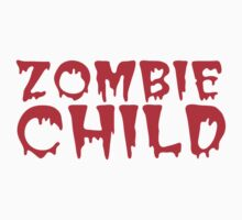 Zombie child in cool dripping font Baby Tee