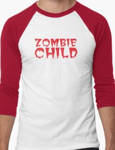 Zombie child in cool dripping font Men's Baseball ¾ T-Shirt