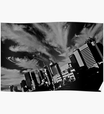 Cloudscape over Melbourne Poster