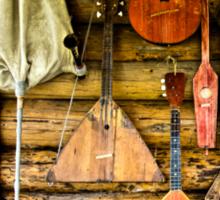 Folk musical instruments Sticker