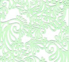 Green Swirls by Amy Hall