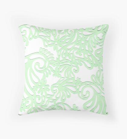 Green Swirls Throw Pillow