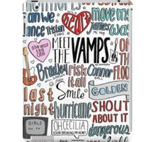 the vamps collage COLORED iPad Case/Skin