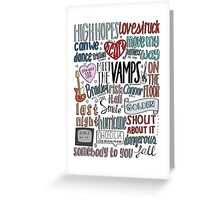 the vamps collage COLORED Greeting Card