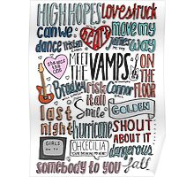the vamps collage COLORED Poster