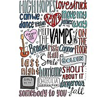 the vamps collage COLORED Photographic Print