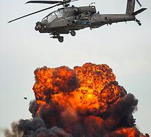 Apache Hellfire Strike by Lonelybadger