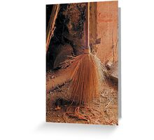 Antique Dust and Broom Greeting Card