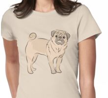 cute pug dog Womens Fitted T-Shirt
