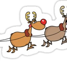Santa and his sleigh Sticker