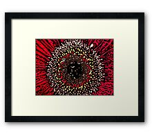 Blink - Woodcut Framed Print
