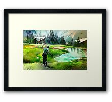 Golf In Crans-Sur-Sierre 01 Framed Print