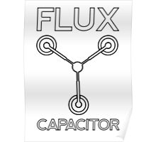 Flux Capacitor - Black Poster