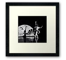 Shadow Dancing (B&W) Framed Print