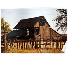 Small Town Barn, Levan, Utah Poster
