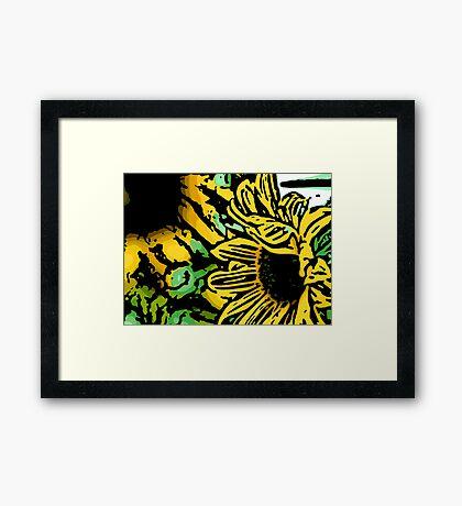 Demure - Woodcut Framed Print