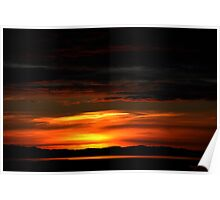 Sunset Over Great Salt Lake Poster