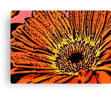 Flirt - Woodcut Canvas Print