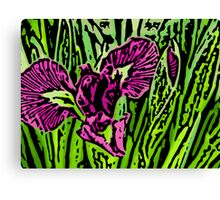Garden Dragon - Woodcut Canvas Print