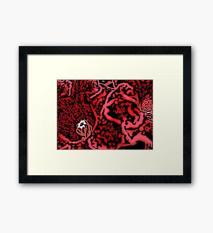 Lava - Woodcut Framed Print