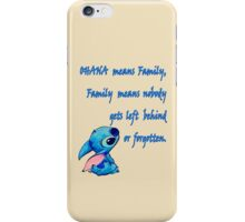 Lilo and Stitch - OHANA quote iPhone Case/Skin