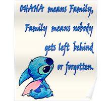 Lilo and Stitch - OHANA quote Poster