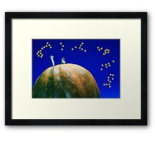 Star Watching On Pumpkin Framed Print