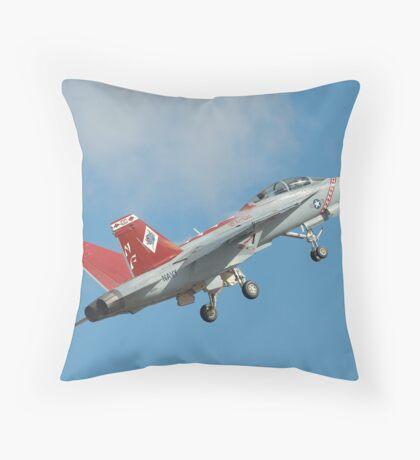 US Navy F18E Going ballistic Avalon 2007 Throw Pillow