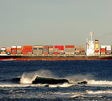 Coming through Port Phillip Bay Heads by Norman Long